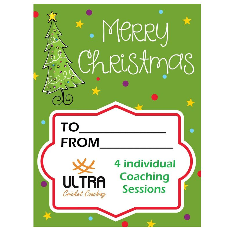 4 individual coaching sessions Xmas gift card