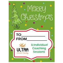 6 individual coaching sessions Xmas gift card
